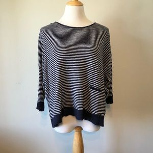 EUC-Eileen Fisher Striped Crewneck Sweater- Size S